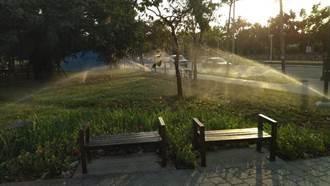 南屯區黎新公園善用再生水 月減1800噸自來水用量