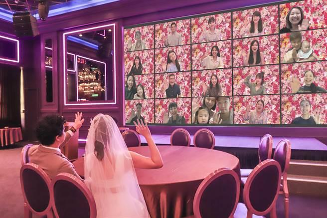 典華攜手蜷川實花打造新潮線上藝術派對,新人可在Mika art space辦視訊婚禮。(圖/典華婚宴美學空間)