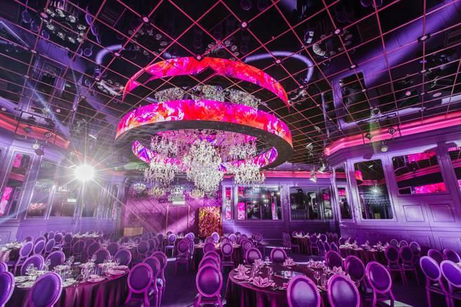 典華婚宴美學空間攜手蜷川實花打造的「Mika art space廳房」很時尚華麗。(圖/典華婚宴美學空間)