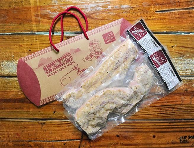 「社團法人原住民深耕德瑪汶協會」小米醃豬肉,變成一道令人食指大動的料理。(勞動力中彰投分署提供)