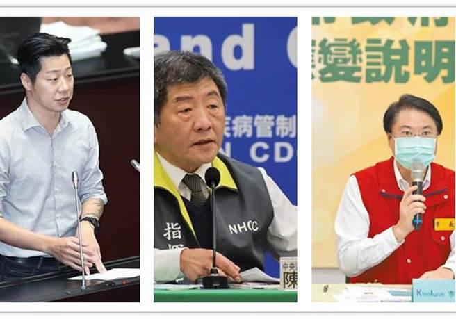謝寒冰指出,有傳聞稱「左中右」想選台北市長,而這3人分別是林昶佐、陳時中和林右昌。(合成圖/資料照)