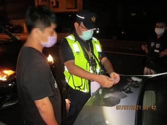台南安平警深夜巡邏 路邊盤查起獲毒咖啡包、愷他命