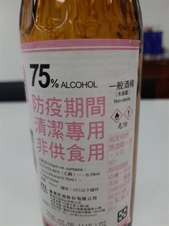 消毒效果竟縮水 一般酒精遭查比例濃度誇大不實