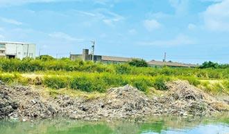 彰化水圳清淤 爛泥雜草堆岸邊
