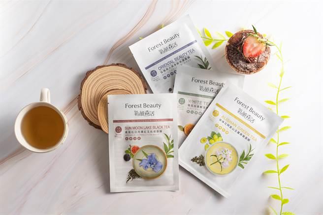 氧顏森活森果系列茶面膜。(圖/品牌提供)