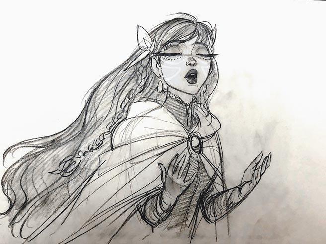 《龍與雀斑公主》電影人物設計草圖。(車庫娛樂提供)