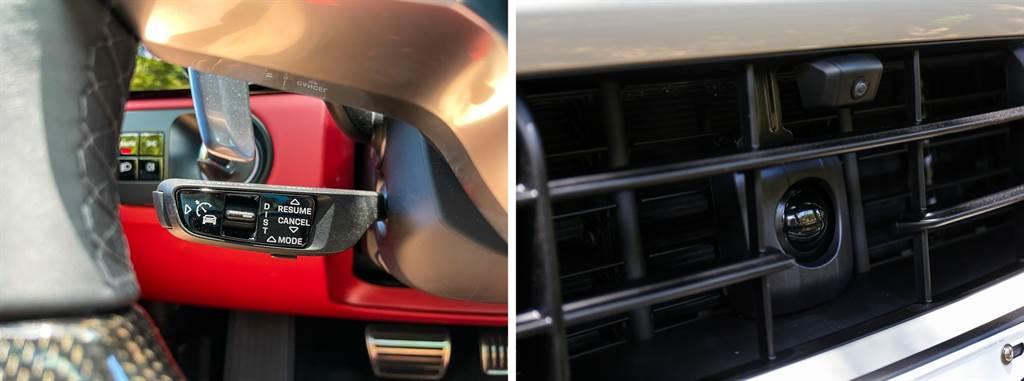ACC智慧巡航、環景影像系統也沒缺席,不過都是選配項目,以本車選配的前後停車雷達含360環景、車道維持輔助、夜視輔助系統、變換車道輔助系統、ACC智慧巡航系統等,總價就達到34.57萬元,而且國內還未提供可將維持車道置中、達到Lv2半自動駕駛的Porsche InnoDrive系統!