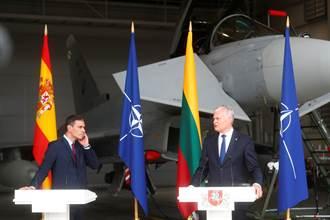 影》立陶宛總統記者會遭警報切斷 身後颱風戰機緊急升空