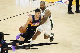 NBA》換布克爆發摘31分 太陽再退公鹿搶總冠軍賽第2勝