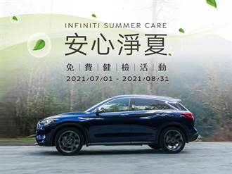 INFINITI 2021 「安心淨夏免費健檢」活動開跑