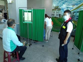 金門機場成立快打站 3天替161人接種疫苗