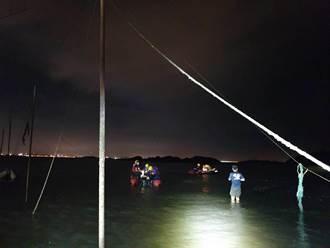 金門4男2女受困離岸500米礁石 消防局暗夜順利救援上岸