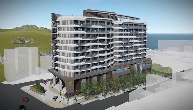 (興建中的日月潭力麗溫德姆溫泉酒店預計於2022年第三季開幕,成為日月潭唯一的「國際牌」飯店。圖/力麗觀光提供)