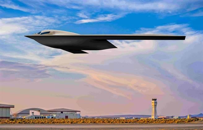 美空軍近日公佈其籌畫多年的下一代隱形轟炸機B-21效果圖,防務專家認為,美空軍此舉顯然是為了反擊中國不久前在媒體上公布轟-20隱形轟炸機想像圖。(圖/美國空軍)