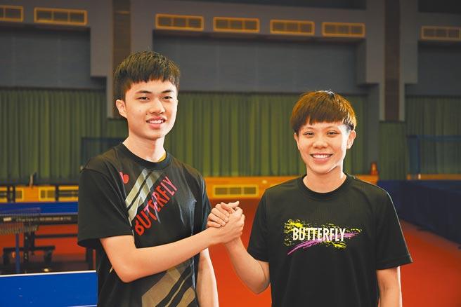 林昀儒與鄭怡靜將聯手搭檔挑戰東京奧運桌球混雙賽事,兩人期許能幫助中華隊奪下獎牌。(國訓中心提供)