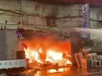 中市太平區鐵皮工廠火災  延燒5家連棟工廠幸無人傷亡