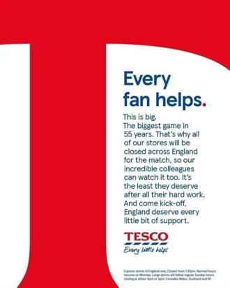 歐國盃》每個球迷都算數 英連鎖超市店休讓員工看球