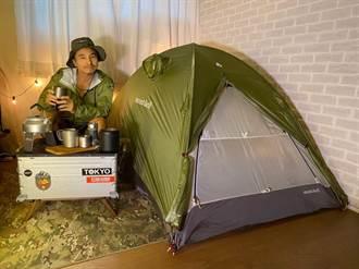 微解封露營區鬆綁未定 王少偉照搭帳篷野營趣