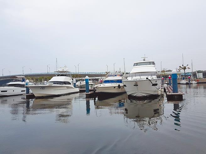 台南安平港發展遊艇休憩相關的腹地面積逾31公頃,圖為開發中的亞果安平遊艇城碼頭。圖/顏瑞田