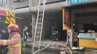 台中電杆起火延燒民宅 9人受困3樓勇消搶進全救出