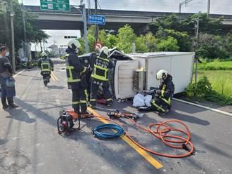 后里機車小貨車相撞 18歲女騎士遭撞飛不治駕駛受困獲救