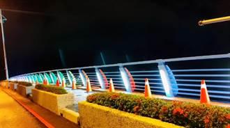 安平漁光大橋LED光雕完工  台南運河12座橋梁成耀眼亮點