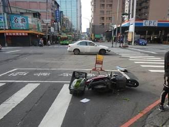 酒駕還闖紅燈 台中21歲男子撞傷機車騎士