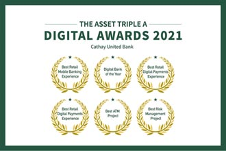 打造數位新金融 國泰世華奪六項大獎