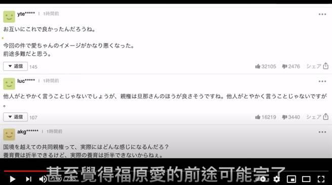 很多日本網友都覺得福原愛前途堪憂。(圖/YT@恁老師)