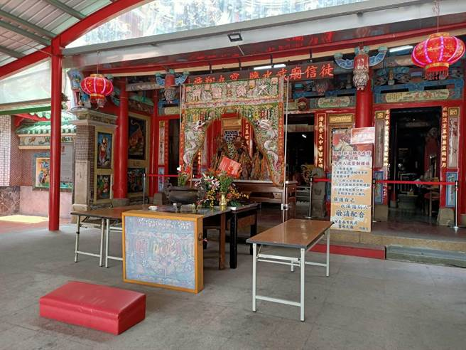 關聖帝君聖誕將至,台南市鹽水武廟將提防疫計畫申請開放入廟參拜。(張毓翎攝)