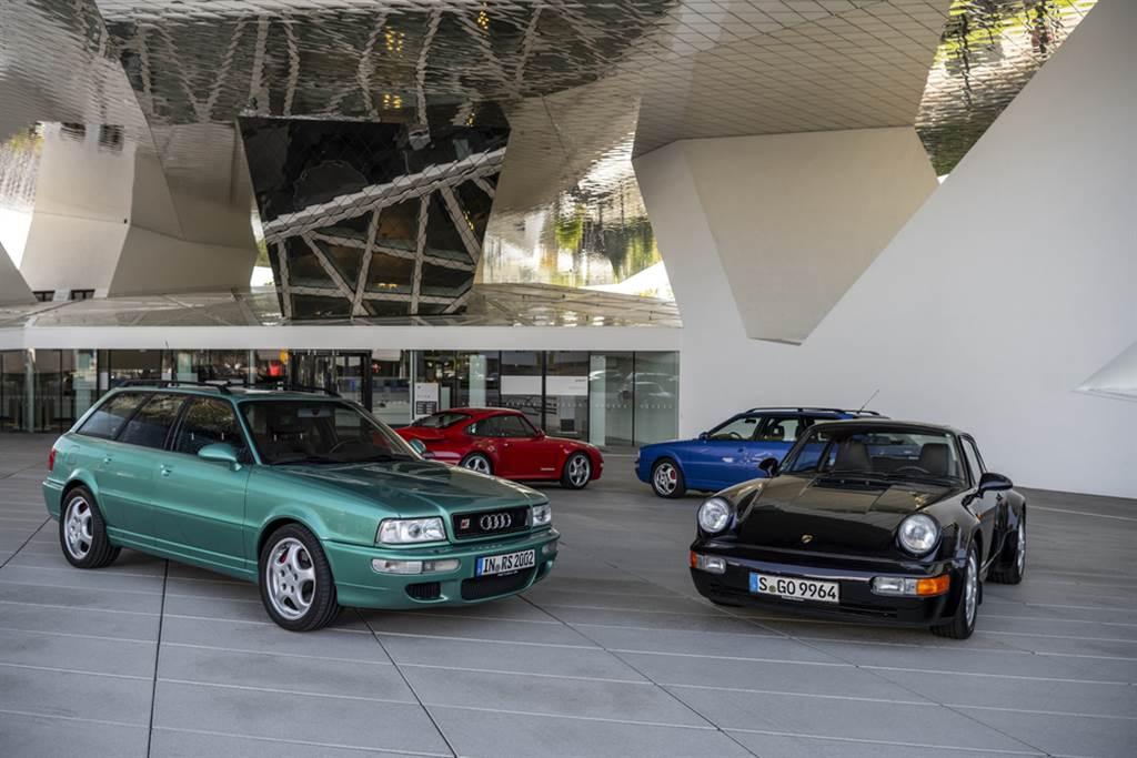 Audi Avant RS2以及Porsche 964世代的911。