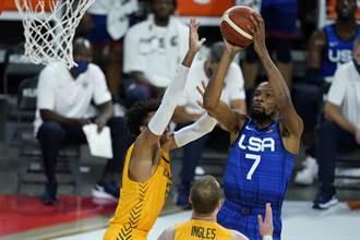 NBA》杜蘭特利拉德沒用 美國夢幻隊不敵澳洲吞2連敗
