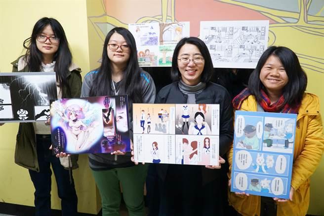 大葉大學黃丰姿老師(右二)舉辦各式活動,誘發學生學習興趣。(校方提供/吳建輝彰化傳真)