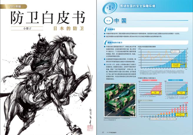 日本發表2021年防衛白皮書,首次以具有高度危機感的姿態展現對台海局勢的關切,並明確指出要與美國加強威懾能力並聯手應對危機。(圖/日本防衛省)