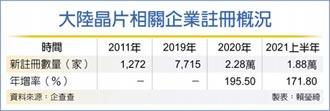 陸上半年晶片企業 增1.88萬家