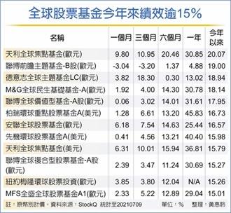 全球股票基金 市場新星