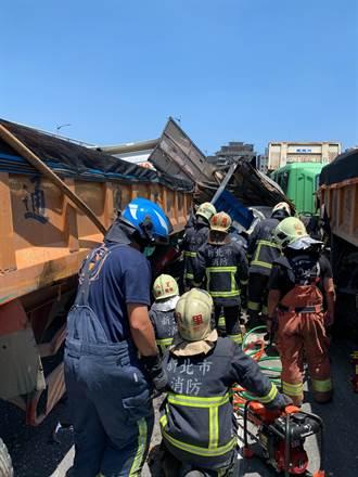 台64線公路閘道口10車追撞 1命危卡車體2輕傷