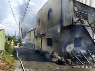 嘉義木材工廠火災濃煙直竄天際 幸無人受傷