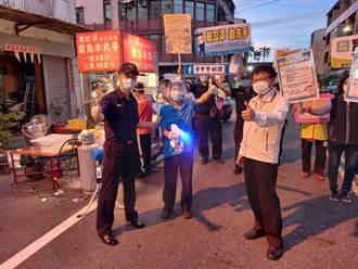 怕你沒聽到!台南學甲夜市微解封 分局長拿大聲公宣導