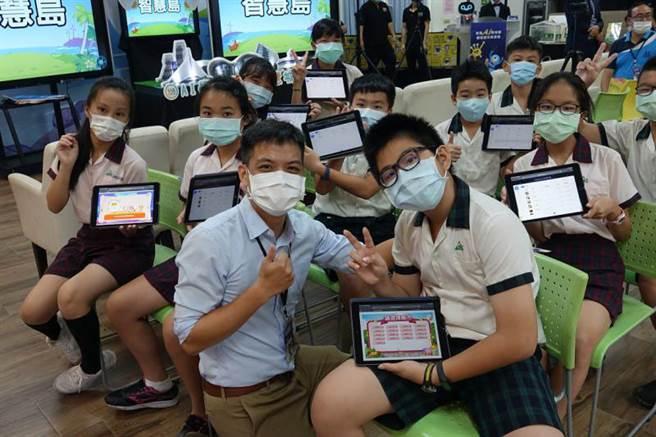 市府教育局正式啟動「E-game-AI智慧島」,在E-game學習平台中,增加全新的學習闖關模式。(圖片提供/高雄市政府教育局)