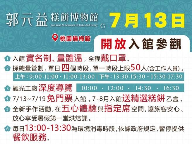 郭元益糕餅博物館14日至19日入館「免門票」還送糕餅1盒。(經發局提供/蔡依珍桃園傳真)
