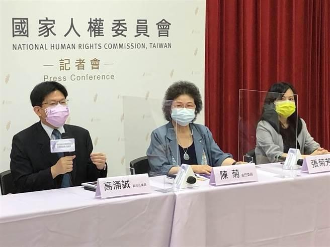 國家人權委員會今公布首份人權調查報告。(趙婉淳攝)
