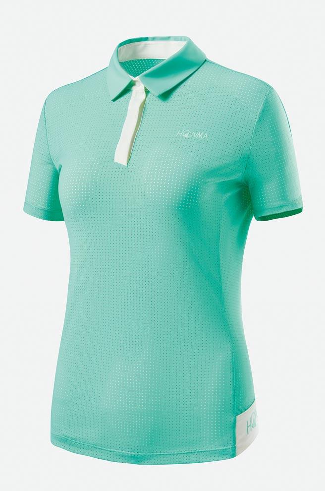新光三越「HONMA沖孔涼感女POLO衫」,原價4480元、特價3584元,8折。(新光三越提供)