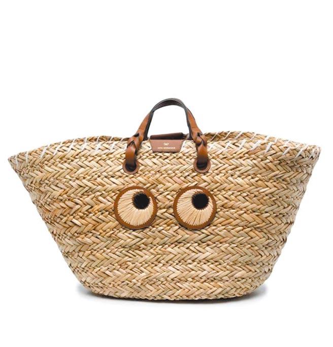 SOGO復興館「Club Designer Anya Hindmarch眼睛編織托特包」,原價2萬1580元、特價1萬5106元。(SOGO提供)
