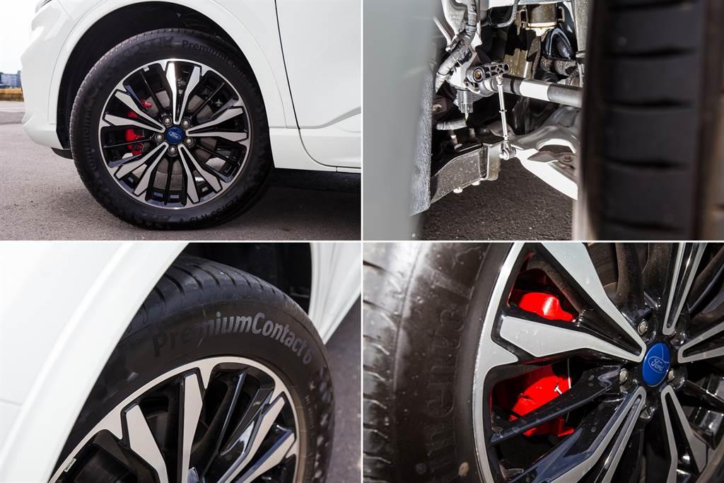 前下控制臂由鑄鐵材質改為鋁合金,輪胎則升級至原先的選配胎PC6,另外煞車卡鉗也換成紅色塗裝,強化運動性格。