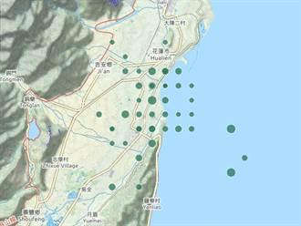 花蓮1天逾40震 氣象局網站竟出現「神秘棋盤格」