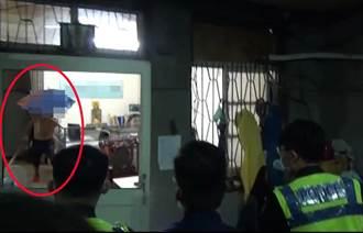 台中物流男醉殺同事 撐傘拿刀與警對峙喊「救命」清醒辯:被下符