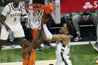 NBA》米德頓阿提托康波聯手66分 公鹿逆襲太陽逼平戰線