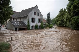 德國大雨洪患釀災 6屋坍塌30人下落不明