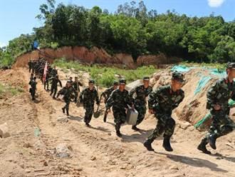 廣東珠海石景山隧道施工段透水 14人受困生死未卜